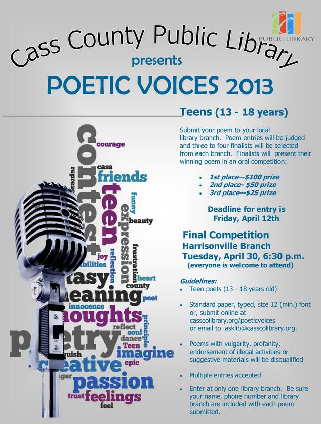 Poster for Poetic Voices 2013