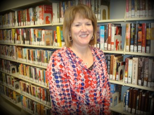 Karen Allen is the new manager at the Harrisonville library.