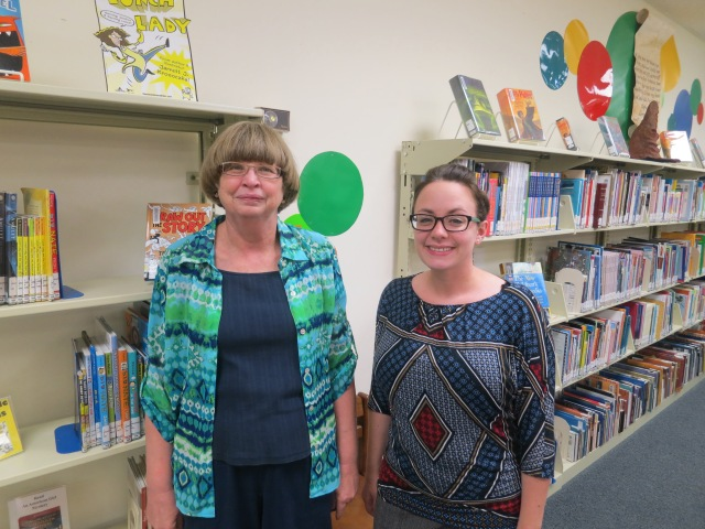Davette Dean (right) assumed the role of Youth Services Coordinator for the library following Marie Vallee's (left) retirement in June.