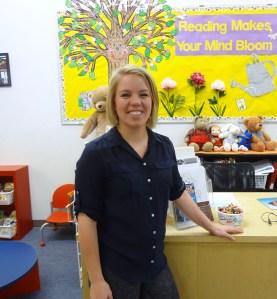 NRC's new children's librarian, Lauren Smith.